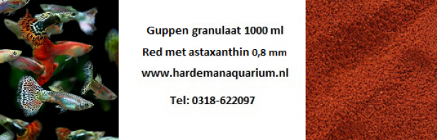Guppen granulaat 0,8 mm 1000 ml